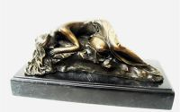 Frumoasa adormita-statueta din bronz