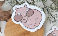 Hamster inghesuit - sticker
