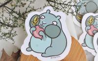 Hamster flamand - sticker