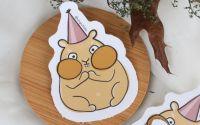 Hamster la petrecere - sticker