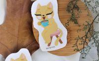 Pisica la cafea - sticker