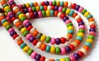 10 Rondele howlit multicolor 6 x 4 mm