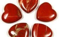 Margele jasp rosu inima 12 x 11 mm
