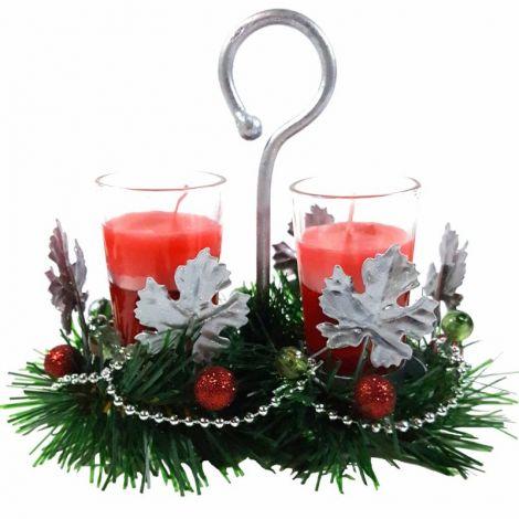 Decoratiune de Craciun Red Candles 20X16 cm