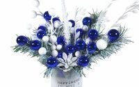 Decoratiune de Craciun BlueWhite 35X38 cm