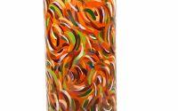 Vaza sticla pictata manual Orange 25 cm