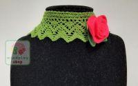 """Choker colier crosetat baza gatului """"Rose Garden"""""""
