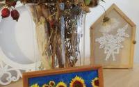 """Tablou din lana impaslita """"Floarea soarelui"""""""