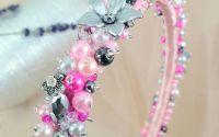 Cordeluta brodata cu perle si cristale