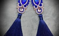 "Cercei soutache ""Royal blue"""