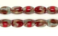 Margele de sticla presata Cehia ovale 9 x 7 mm