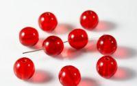 Margele rotunde rosii sticla Jablonex Cehia 8 mm