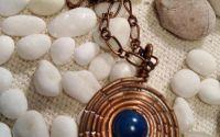 Pandantiv boho piatra albastru