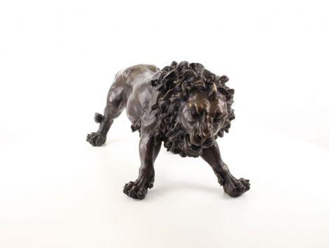 Leu-statueta din bronz masiv