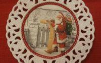 Platou ceramic Mos Craciun