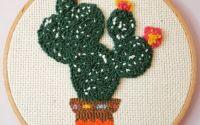 Punch Broderie Rama - Model De Cactus