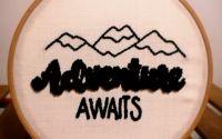 Adventure Await - Conceptul Iarna - Punch Broderie