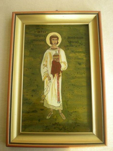 Icoana pe sticla - Sfantul Stefan