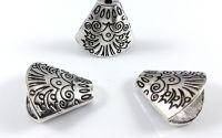 Capac conic decorativ argintiu antichizat 20 x 18