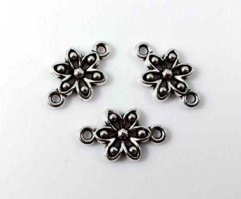 Link metalic argintiu antichizat model floare