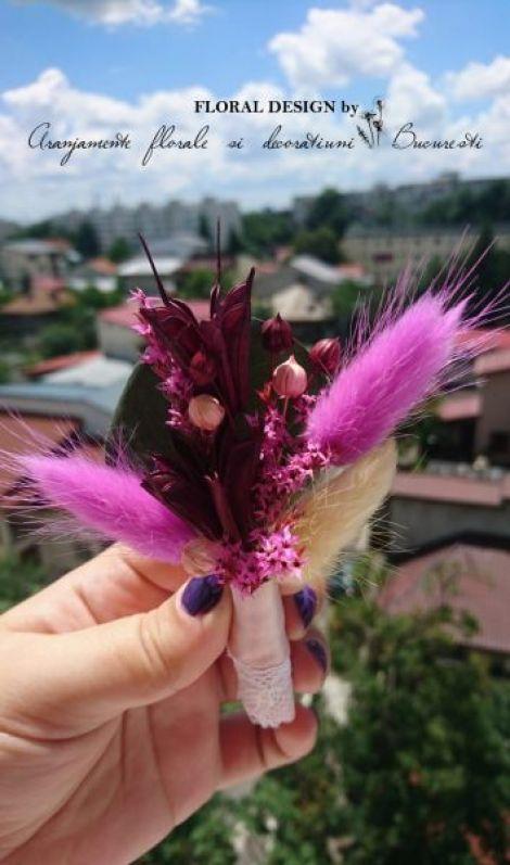 Cocarde nunta flori uscate