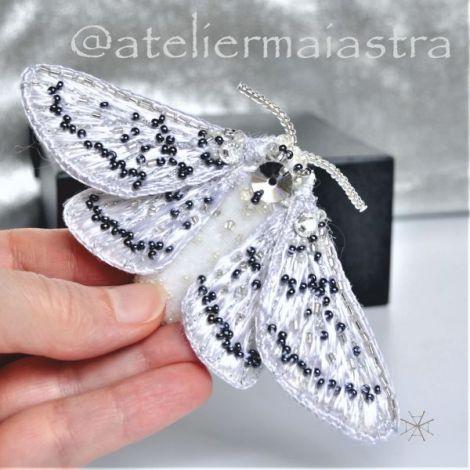brosa fluture 3D cristale Swarovski brosa insecta
