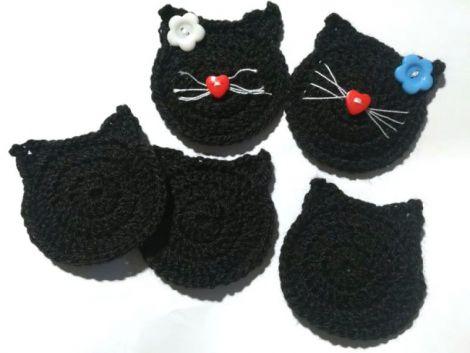 Aplicatie crosetata pisica