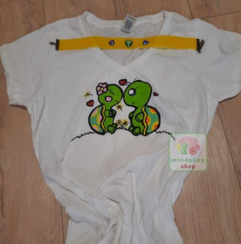 Tricou Turtle Love pictat manual