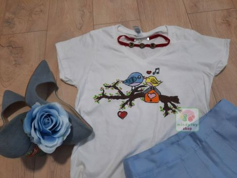 """Tricou """"Love is in the Air"""" pictat manual"""