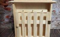 Dulapior suport chei 3 lemn natur
