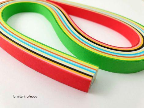 10 mm Fasii hartie 12 culori 120 fasii Cod 1405