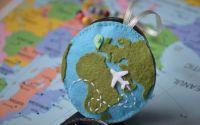 Travel keepie accesoriu din fetru in jurul lumii