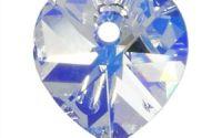Pandantiv cristal inima fatetata 10.5 mm Clear AB