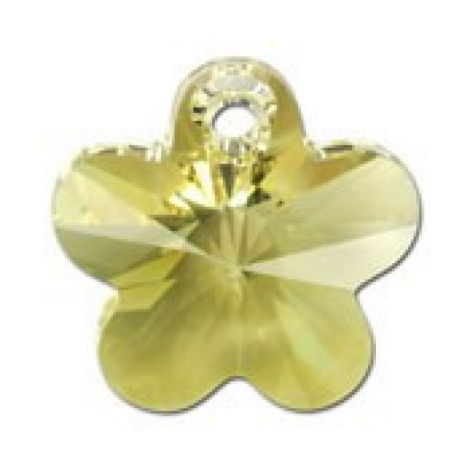 Pandantiv cristal floare fatetata 14 mm