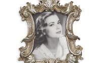 Rama foto argintie din rasini