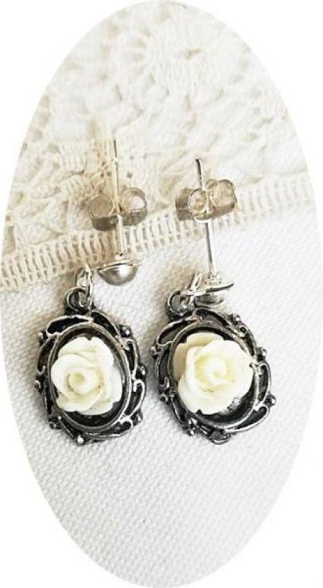 cercei trandafirasi albi