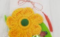 Brosa - Martisor floare crosetata - galben