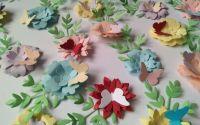Flori 3D cu fluturas