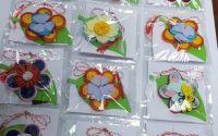 Set 12 Martisoare din hartie - Flori Quilling