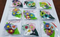 Set 9 Martisoare flori crosetate multicolore