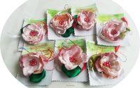 martisor brosa floare de matase roz pastel