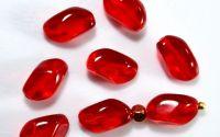 Margele sticla Cehia ovale 11 x 7 mm - Siam