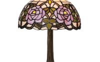 Lampa Tiffany din bronz cu motive florale
