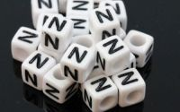6mm margele plastic alfabet litera N cub 100buc
