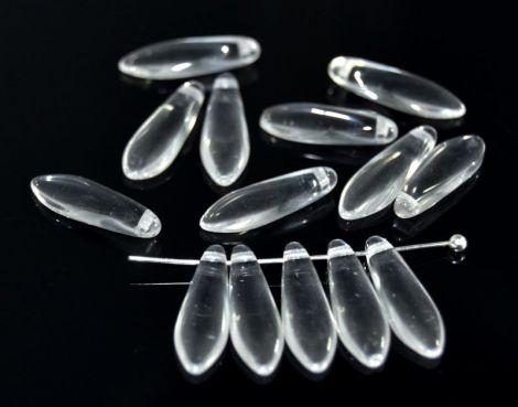 Margele sticla Cehia Daggers 16 x 5 mm clear