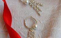 Cercei argintii cu perle