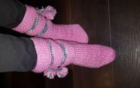 Sosete tricotate manual