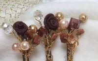 Bouquet - brosa cristale maro