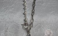Colier Sapphire silver cu piatra Swarovski