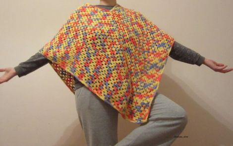 Tricolor infasurator - poncho